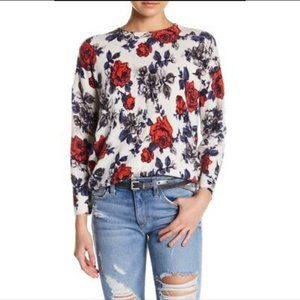 Equipment Melanie Floral Print Cashmere Sweater